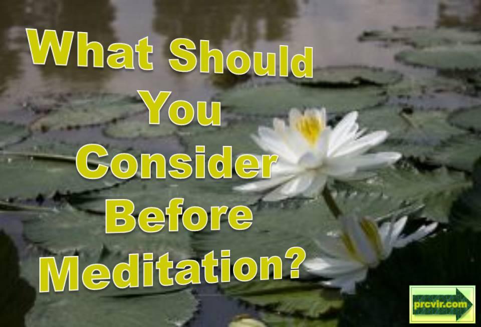 before meditation