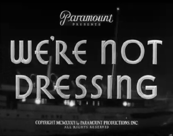 Image result for we're not dressing 1934 poster