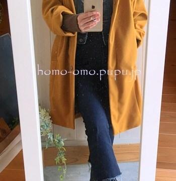 デニムコーデで冬も温かいファッション