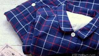 脇に縫い目のない2重ガーゼパジャマ