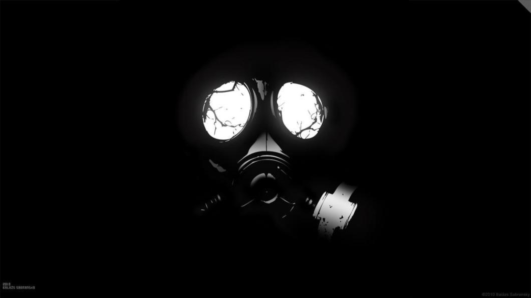 gas mask wallpaper