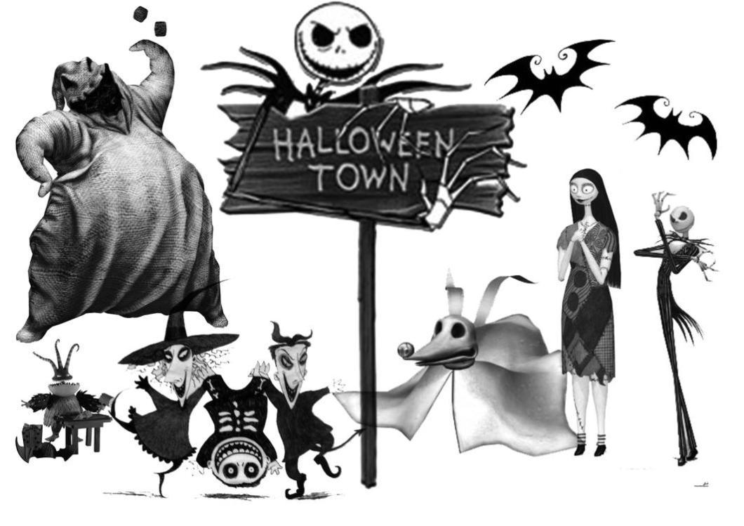 Nightmare Before Christmas Halloween Town Silhouette | Hallowen.org