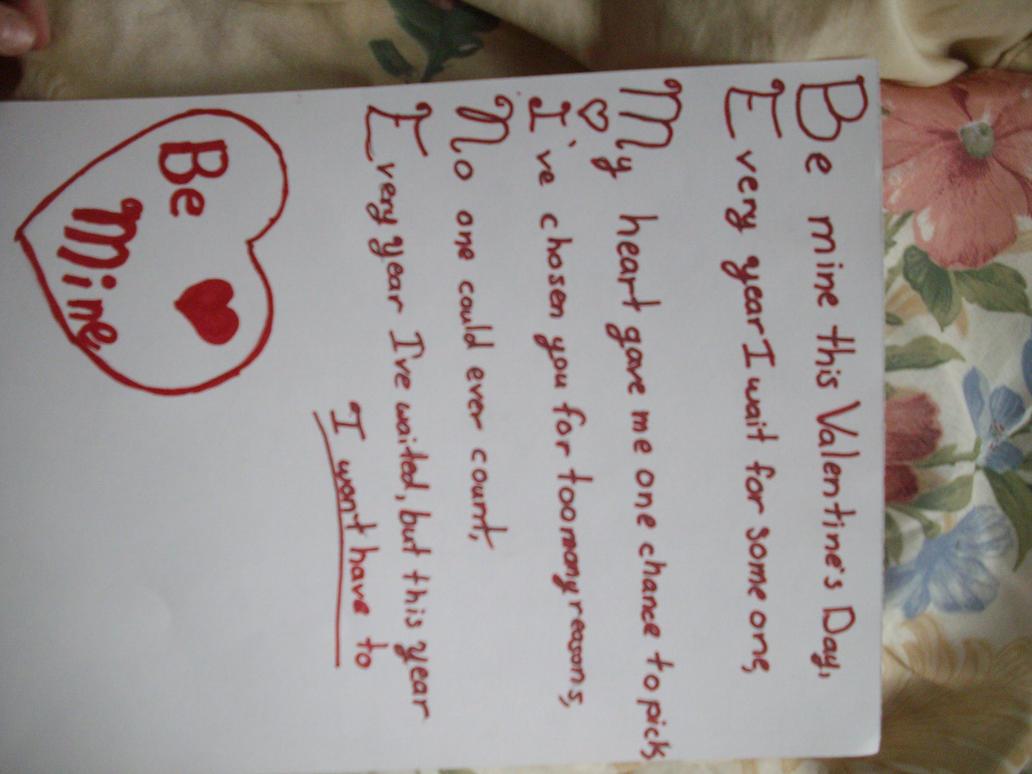 Be Mine Acrostic Poem By Slyfox101 On Deviantart