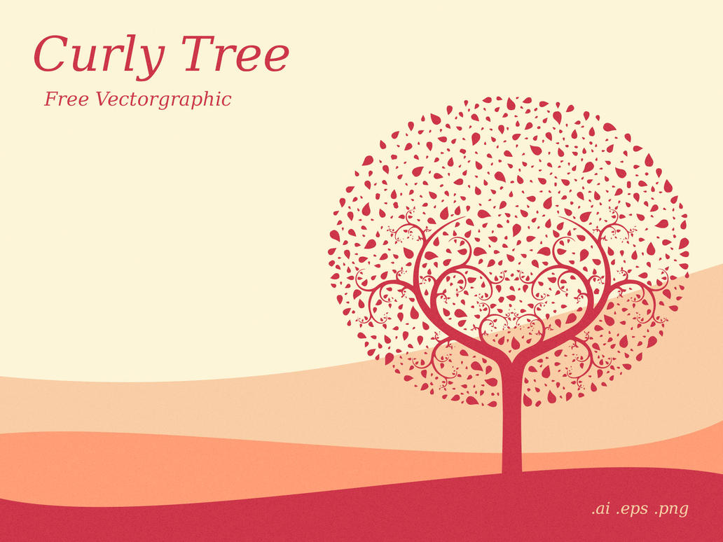 free curly tree vector graphic link