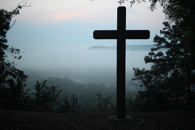 Cross In Scenic Mountains