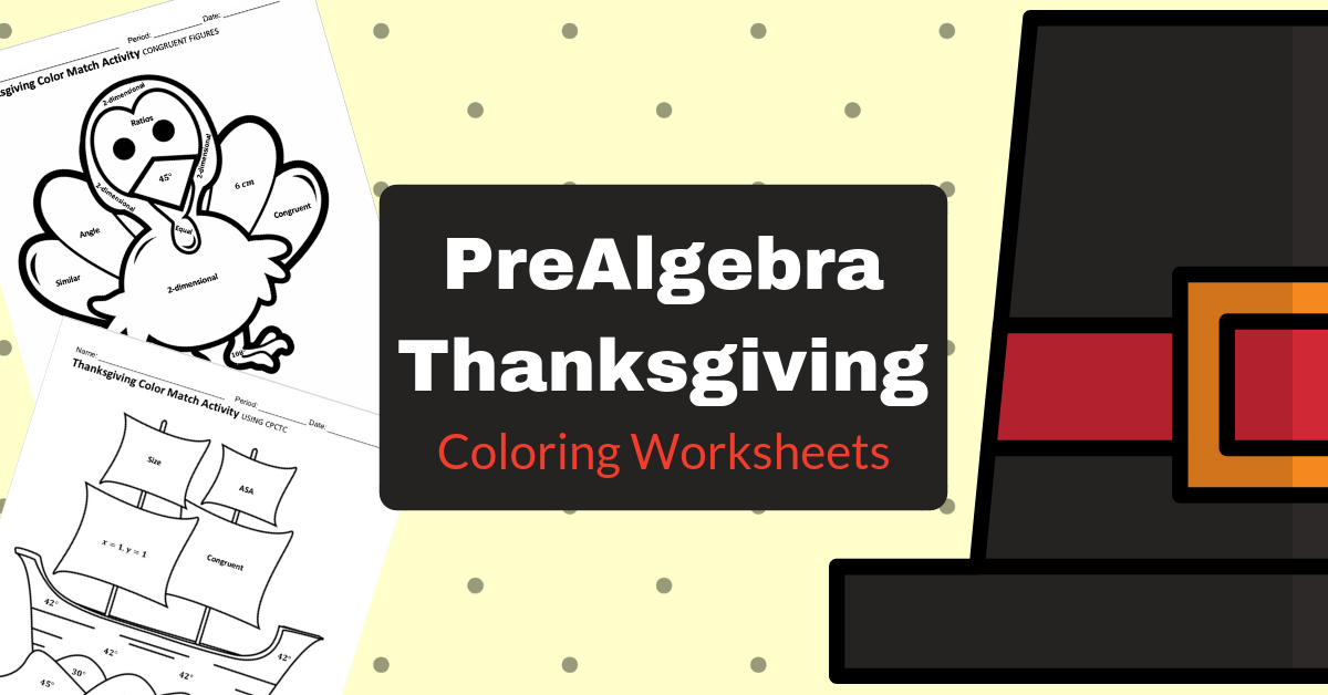 Thanksgiving Math Coloring Worksheets