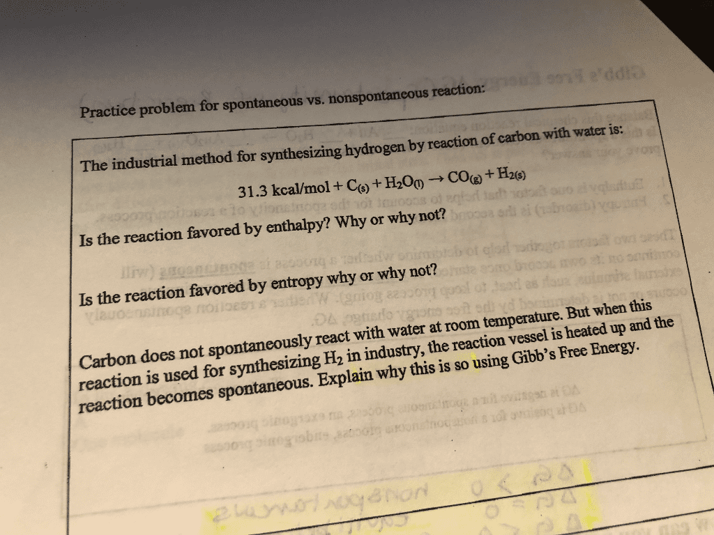 Chemistry Homework Help And Exam Questions Page