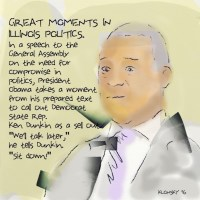 Ken Dunkin. Great moments in Illinois politics.