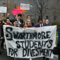 This morning students at Swarthmore College are sitting-in, demanding that the administration divest in fossil fuel.