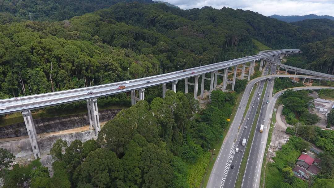 Jalan Pintas Rawang Jambatan Tertinggi Di Malaysia Kini Dibuka