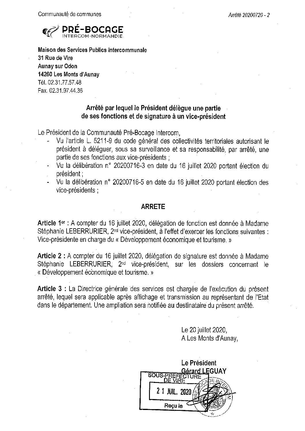 Décision déléguée du 20 juillet 2020