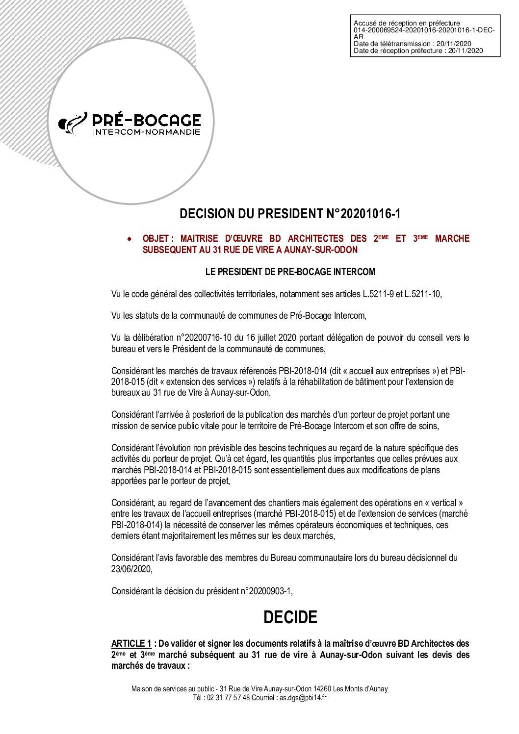 Décision déléguée du 16 octobre 2020