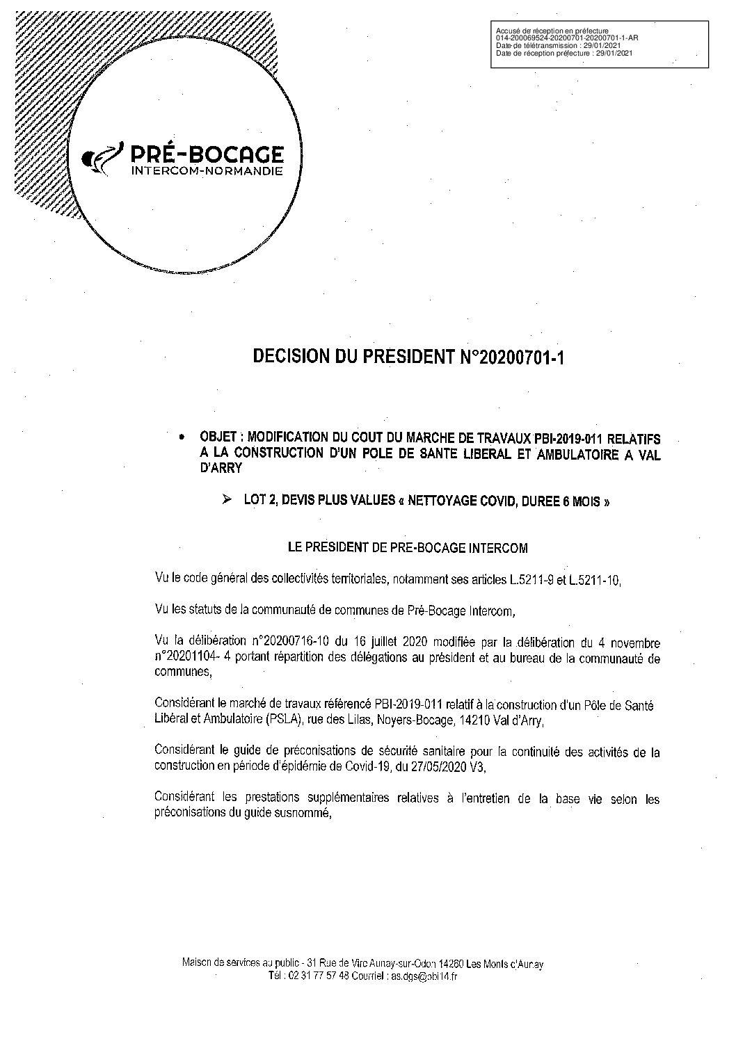 Décision déléguée du 1er juillet 2020