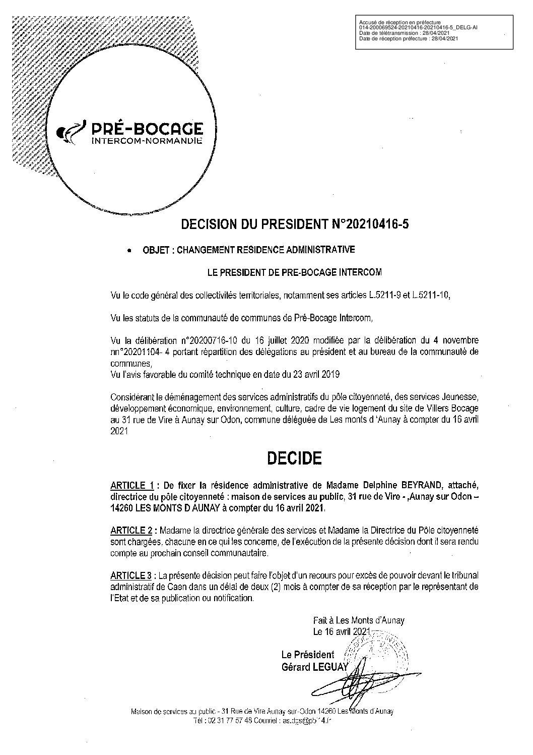 Décision déléguée du 16 avril 2021