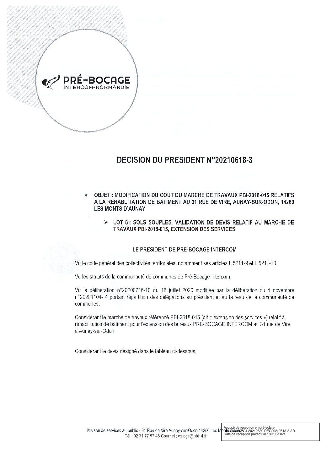Décision déléguée du 18 juin 2021
