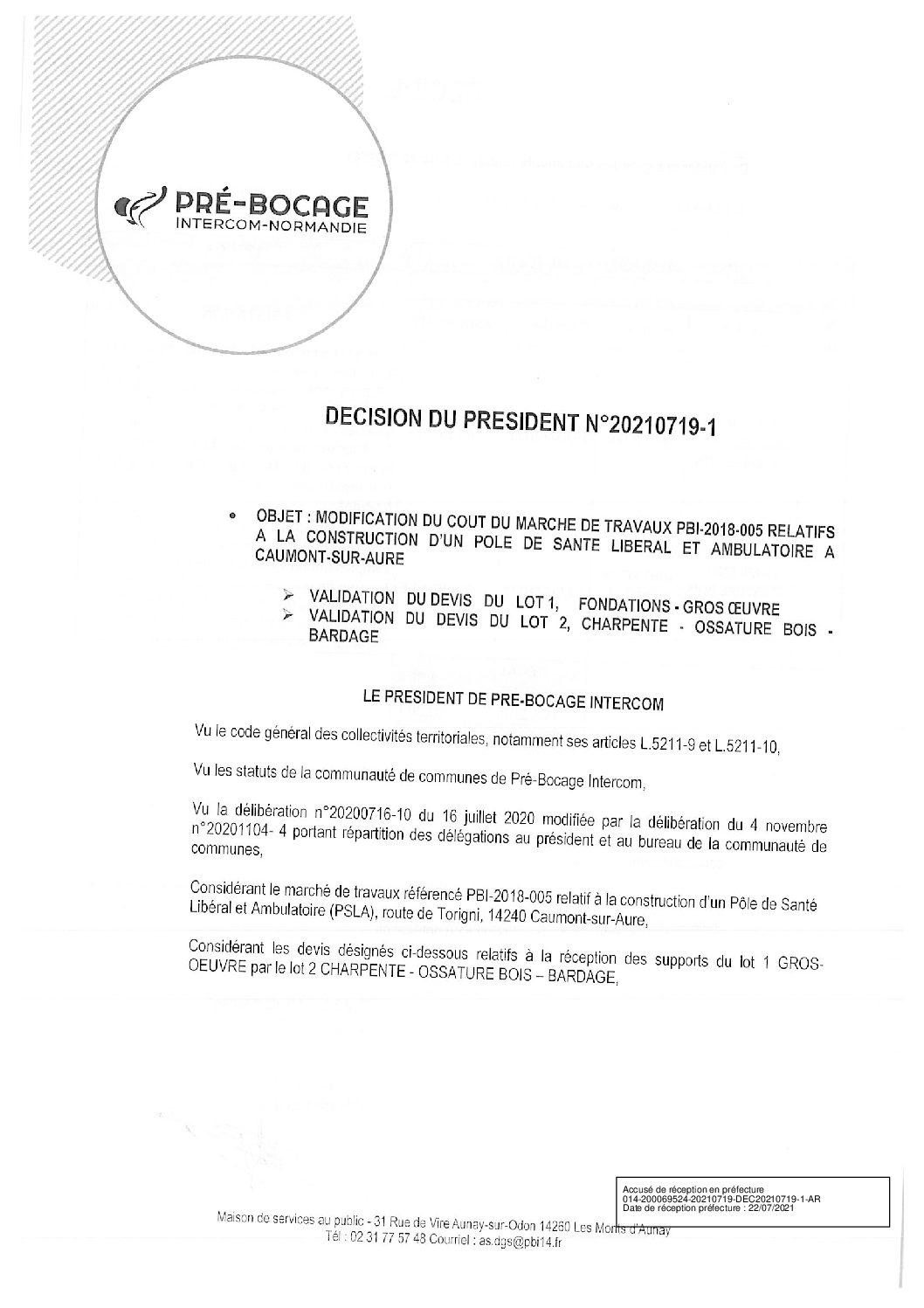 Décision déléguée du 19 juillet 2021