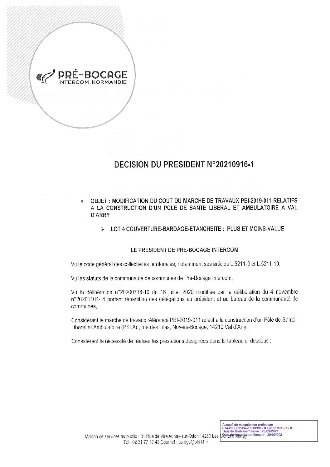 Décision déléguée du 16 septembre 2021