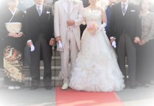 結婚式の親族集合写真