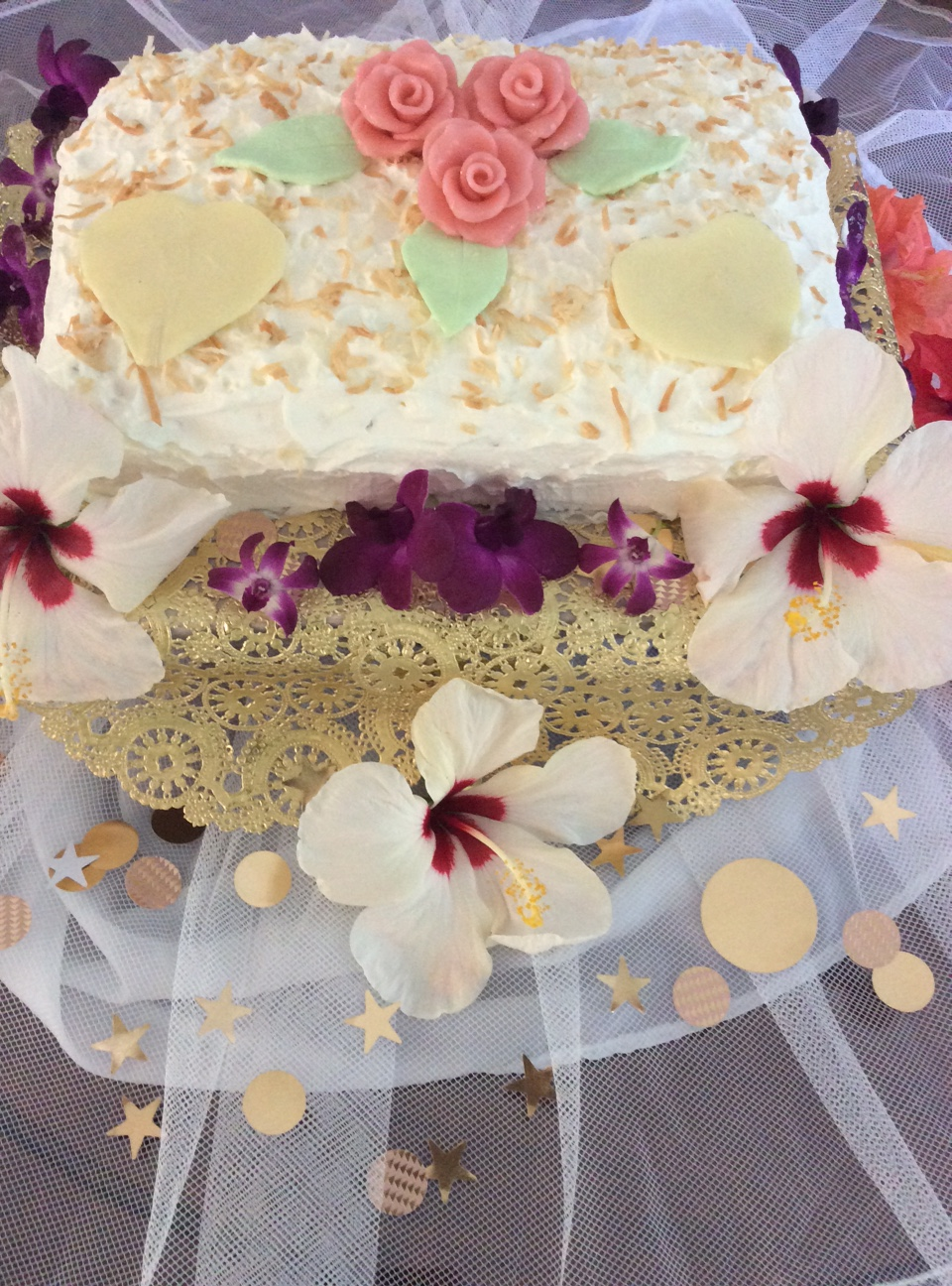Hawaiian Wedding Cake     Precious Art By Precious People Hawaiian Wedding Cake