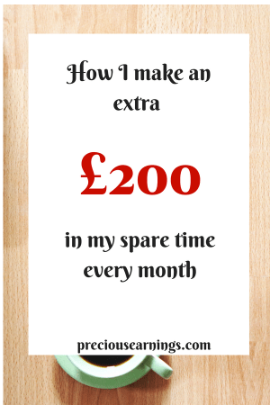 How I make an extra £200 in my spare time every month
