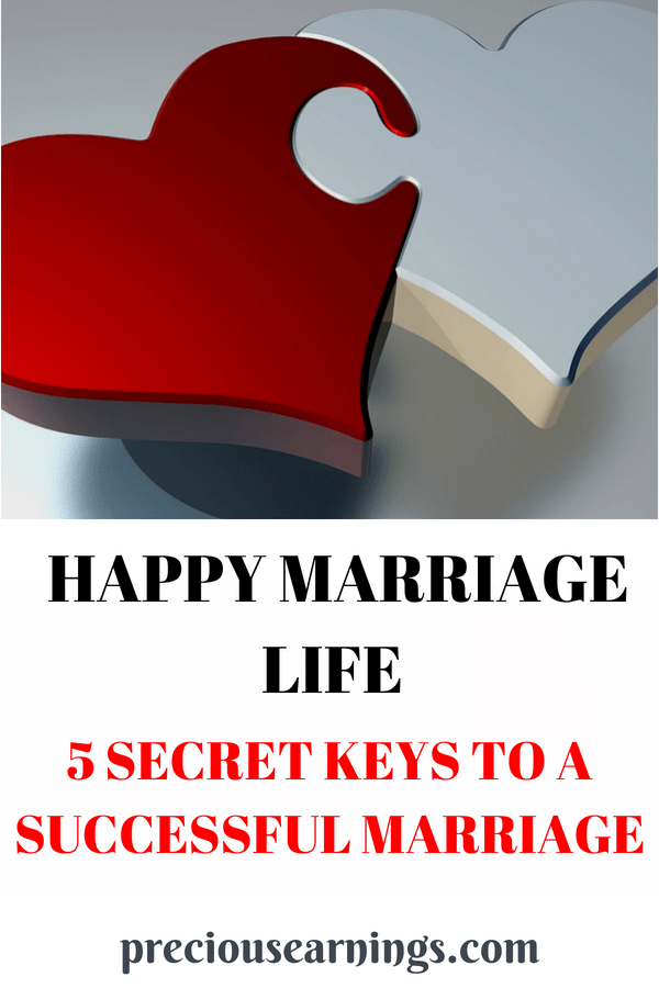Happy Marriage Life: 5 secret keys to a successful marriage