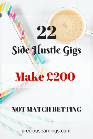 22 side hustle gigs that can make you £200, not match betting