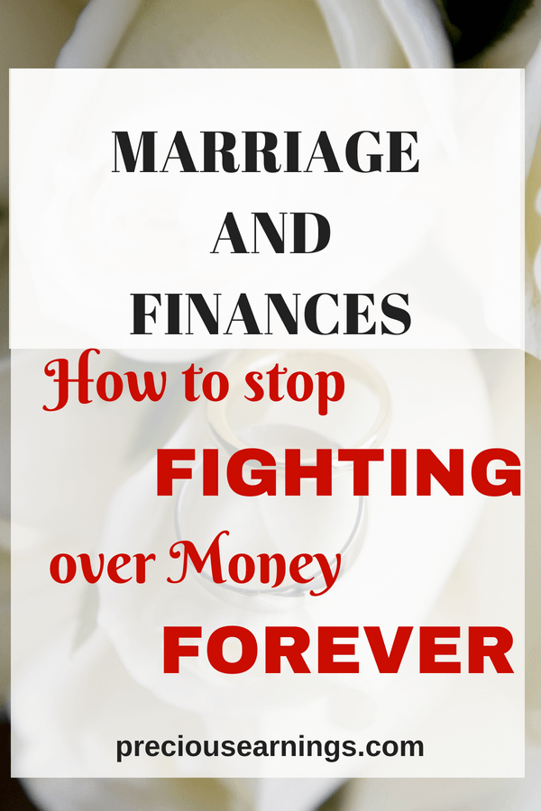 marriage and finances - stop fighting over money