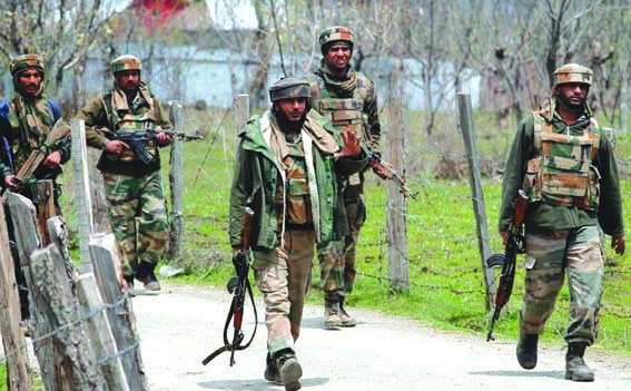 3 militants killed, 3 soldiers injured in Tral gunfight
