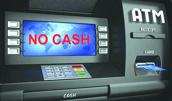 ATMs, filling stations go dry
