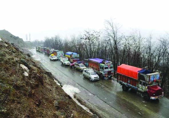 Despite intermittent landslides, highway through for one-way traffic