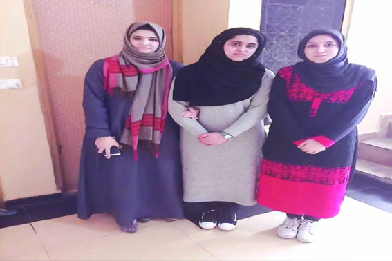 Three Kashmiri girls design Smart Electric Metering System' project