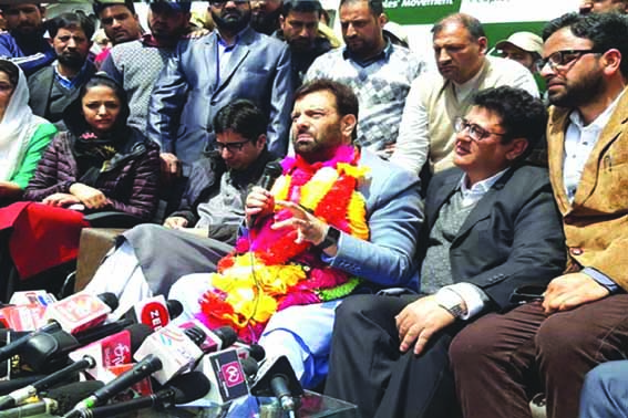 Former PDP MLA Javaid Mustafa Mir joins Shah Faesal-led JKPM party