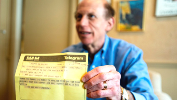 Michigan man receives congratulatory telegram 50 years later