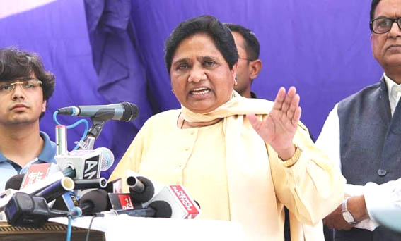 BJP will lose due to its policy of hatred: Mayawati at first joint rally in UP