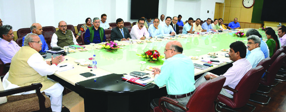 Governor reviews functioning of Govt departments