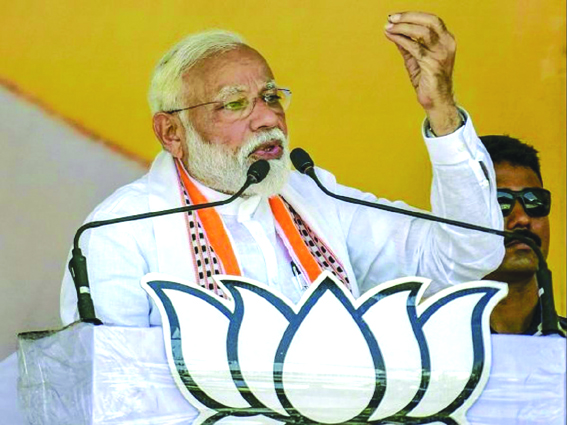 Cong did surgical strikes only 'on paper': PM
