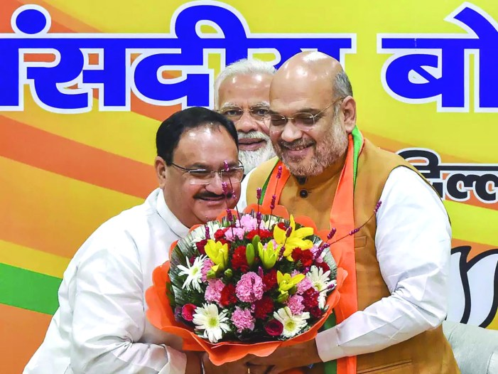 J P Nadda appointed BJP working president
