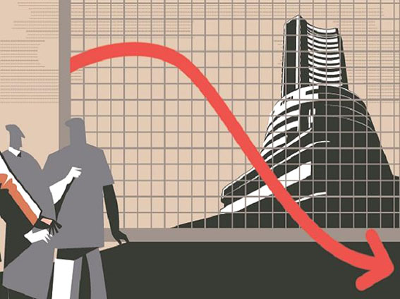 Last hour sell-off drags Sensex 289 pts lower; RIL, financials top losers