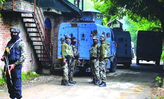Two missing SPOs among four militants killed in Pulwama gunfight