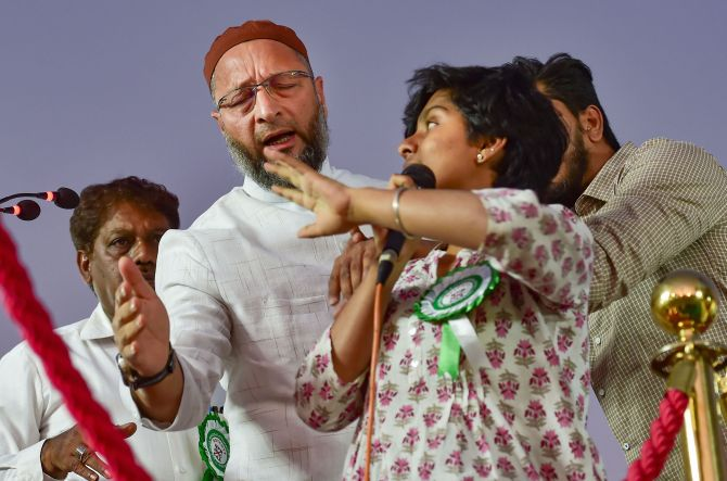 "Woman Arrested In Bengaluru For Holding ""Kashmir Mukti, Dalit"