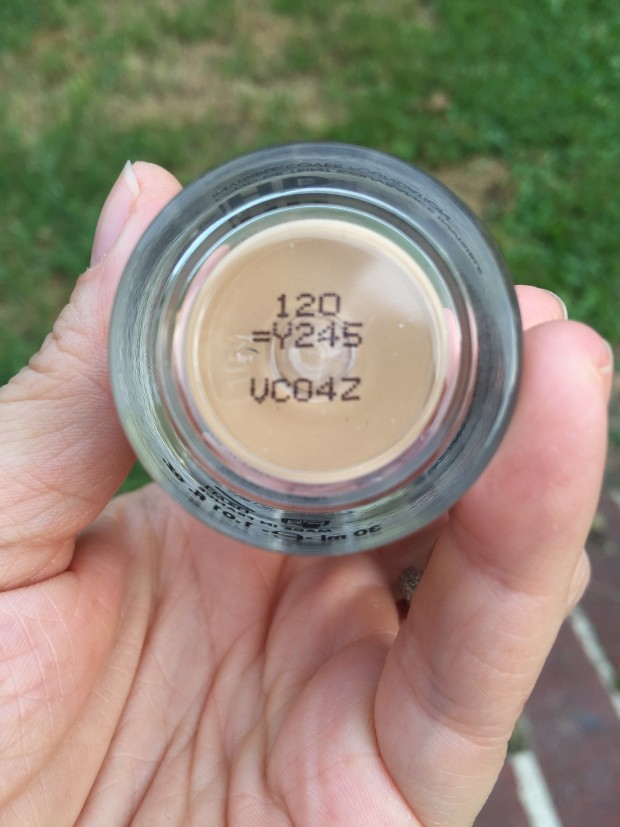 Bottom of MUFE bottle