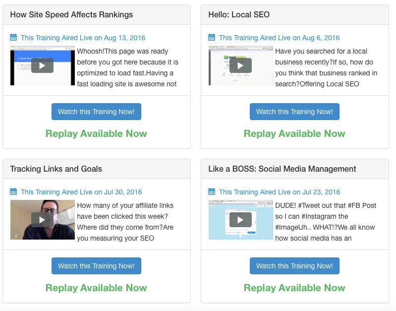 Wealthy Affiliate Live Webinars