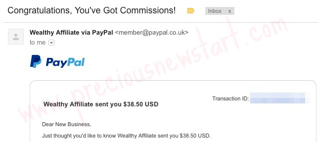 My First Wealthy Affiliate Commission