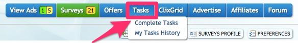 clixsense-complete-tasks