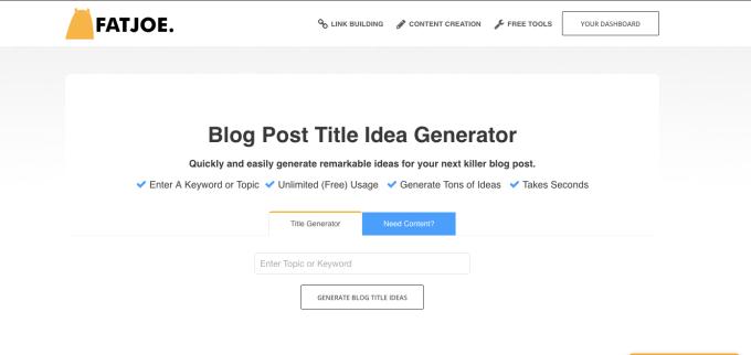 fat joe free blog content generator