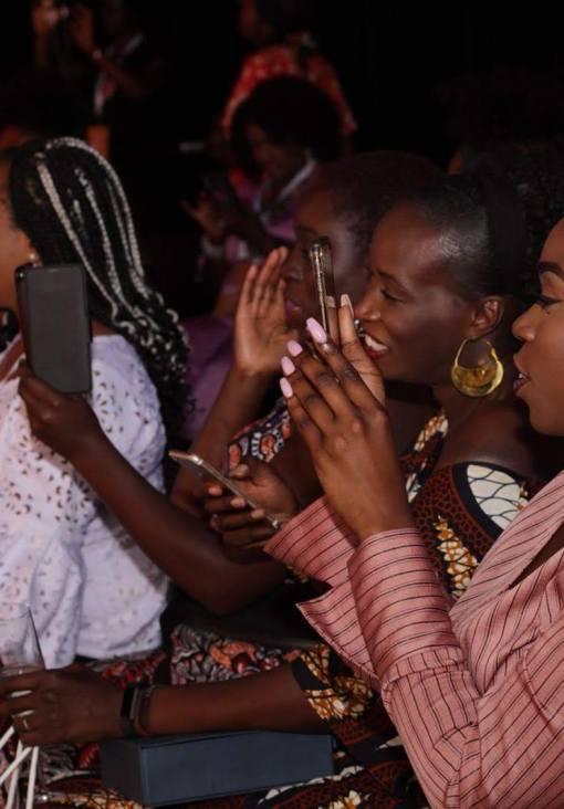 image of beautiful black women clapping