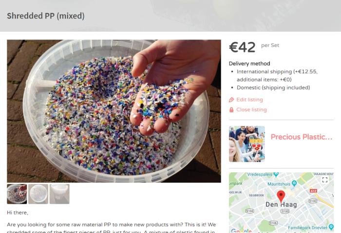 Shredded PP | Precious Plastic Den Haag | PPDH