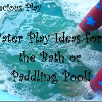 Super Simple Water Play Activities for the Bath or Paddling Pool!