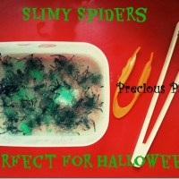 Slimy Spiders (A Sensory Maths Game for Halloween)