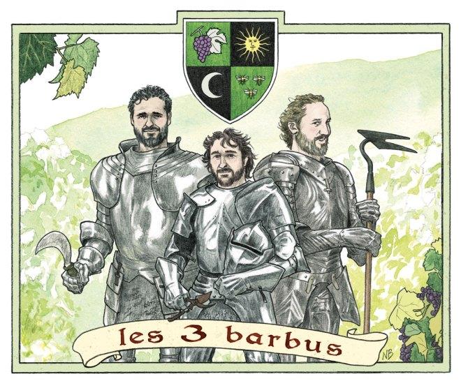 Etiquette Les 3 Barbus (2014) - Version couleur